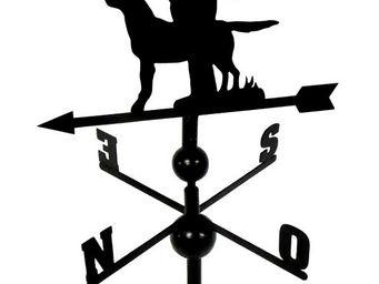BARCLER - girouette chasseur et son chien en fer forgé 106x4 - Banderuola Segnavento