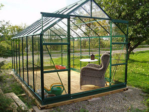 Chalet & Jardin - serre avec base 8,88m² en verre trempé et aluminiu - Serra