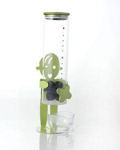 Brandani - distributeur de céréales vert en métal et verre 13 - Distributore Di Cereali