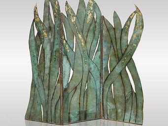Genevieve Bonieux - feuilles de bronze - Paravento Separ�