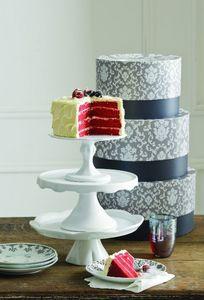 Rosanna - white pedestals - Piatto Torta Con Base