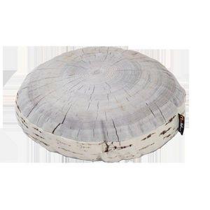 MEROWINGS - birch annual ring cushion - Cuscino Rotondo