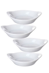 WHITE LABEL - ensemble de 4 minis plats en porcelaine - Tegame