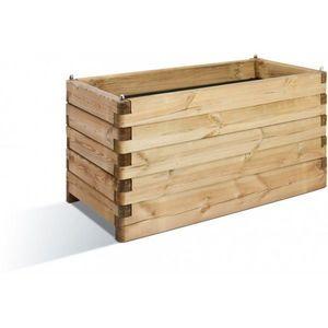 JARDIPOLYS - bac à fleur rectangulaire en bois 208 litres jardi - Fioriera