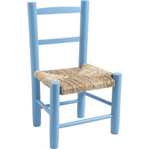 Aubry-Gaspard - petite chaise bois pour enfant bleu - Sedia Bambino