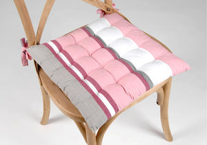Amadeus - galette futon rose en coton 38.5x38.5x4cm - Coprisedia