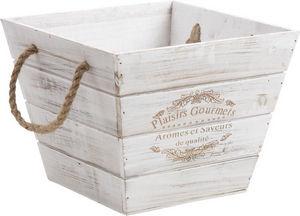 Aubry-Gaspard - corbeille bois - Cassettiera Sistematutto