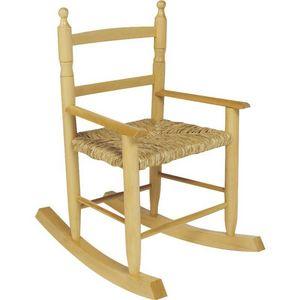 Aubry-Gaspard - fauteuil à bascule pour enfant en hêtre - Poltroncina Bambino