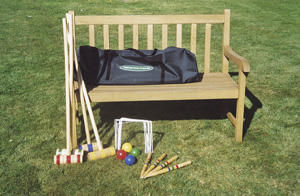 Traditional Garden Games - set de croquet enfant en bois - Cofanetto Da Gioco