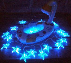 FEERIE SOLAIRE - guirlande solaire etoiles de mer 20 leds blanches  - Ghirlanda Luminosa
