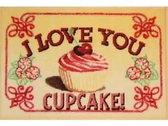 ILIAS - tapis de cuisine i love you cupcake - Tappetino Per Lavello