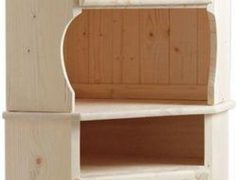 BARCLER - meuble d'angle en bois brut 52,5x52,5x175cm - Angoliera