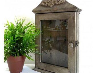 L'HERITIER DU TEMPS - boite à clefs en bois vitrée - Armadietto Chiavi