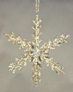 Demeure et Jardin - etoile lumignon ivoire et or - Stella Decorativa