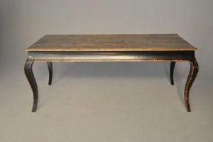 Demeure et Jardin - table rectangulaire bois noir laqué - Tavolino Rettangolare