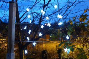 FEERIE SOLAIRE - guirlande etoiles 20 leds blanches solaire 3m80 - Ghirlanda Luminosa