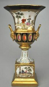 Demeure et Jardin - vase aux chinois - Vaso Decorativo