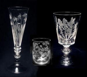 Jacqueline Allwood - jeu de verres gravés - Servizio Di Bicchieri