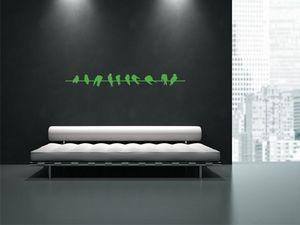 WHITE LABEL - sticker mural oiseaux 01 - Sticker