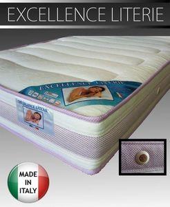 WHITE LABEL - matelas 120 * 200 cm excellence literie épaisseur  - Materasso In Gommapiuma