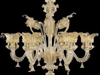 MULTIFORME - golden century - Lampadario Murano