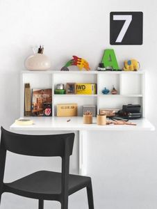 Calligaris - table pliante spacebox de calligaris blanche avec  - Tavolo Pieghevole