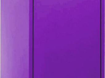 jardindeco - armoire de rangement m�tal 1 porte prune -