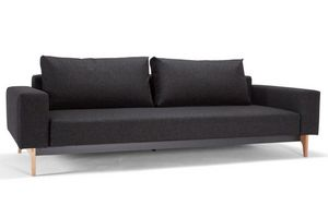 INNOVATION - idun canapé design noir twist black convertible li - Divano Letto