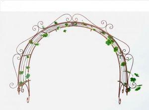 Demeure et Jardin - dessus de porte en fer forgé. - Ornamento Da Giardino