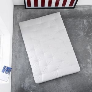 WHITE LABEL - matelas futon traditionnel écru 160*200cm - Futon