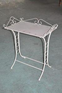 Demeure et Jardin - table de toilette blanc antique - Tavolino Di Servizio