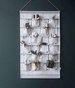 Ferm Living - grey christmas calendar-- - Calendario Dell'avvento
