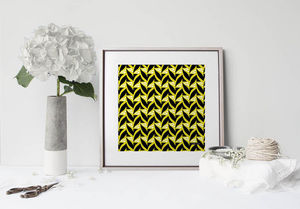 la Magie dans l'Image - print art abstrait fifties moutarde - Stampa