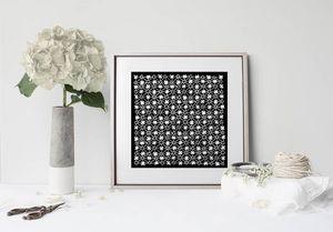 la Magie dans l'Image - print art trèfle noir blanc - Poster