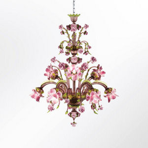 MULTIFORME - rosae rosarum - Lampadario Murano