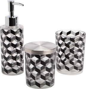 Amadeus - coffret 3 accessoires salle de bain noir - Set Accessori Per Bagno