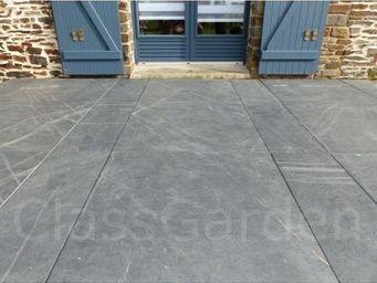 CLASSGARDEN - terrasse de 10 m² en dalle sciée de 80x30 - Lastra Per Pavimentazione Esterna