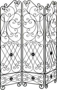 Aubry-Gaspard - paravent 3 panneaux en métal - Paravento Separé