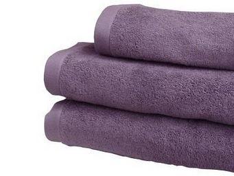 Liou - drap de bain prune grisé - Asciugamano Grande