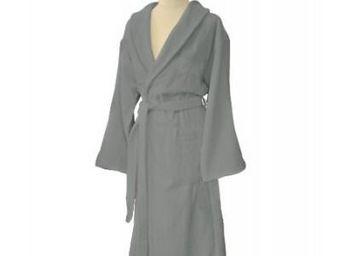 Liou - peignoir de bain gris velours - Accappatoio