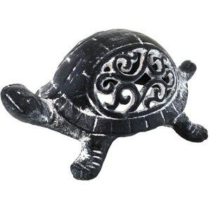 CHEMIN DE CAMPAGNE - statue de tortue cache-clef clé bougie photophore  - Bicchiere Portacandela