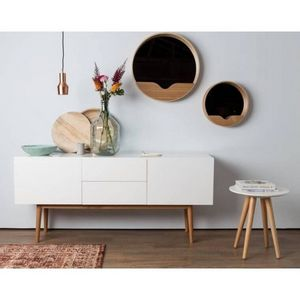 ZUIVER - meuble tv ou buffet laqué blanc helsinki - Mobile Tv & Hifi