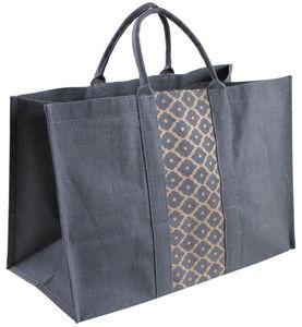 Aubry-Gaspard - sac à bûches gris en jute plastifiée elegance - Sacca Portalegna