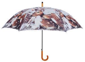 Esschert Design - parapluie daim en nylon et bois daim - Ombrello