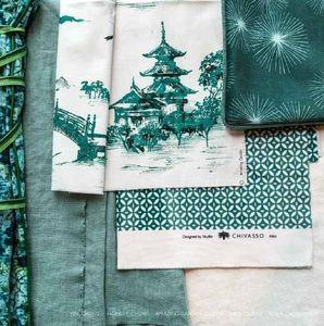 Chivasso - jade green - Tessuto D'arredamento