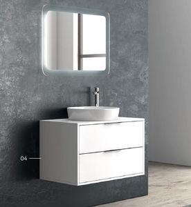 ITAL BAINS DESIGN - super 100 laque 2 tiroirs - Mobile Bagno