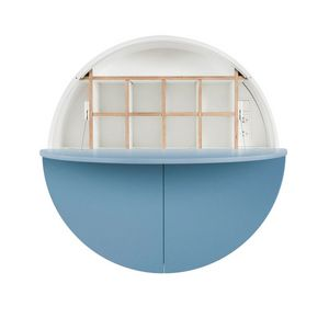 EMKO - pill - bureau mural bleu / blanc 30.5 x ø 110 cm - Ufficio Sospeso