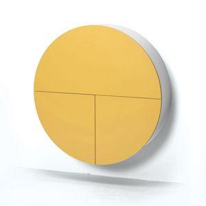 EMKO - pill - bureau mural jaune / blanc 30.5 x ø 110 cm - Ufficio Sospeso