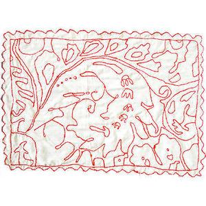 PO ! PARIS - tissus décoré à la main - Tovaglietta All'americana