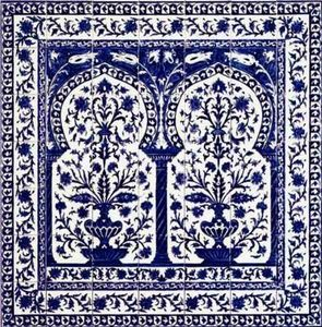Diffusion Ceramique - kinz bleu - Pannello Di Ceramica